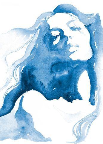 Mode Illustration Aquarell Print Mode Malerei Von