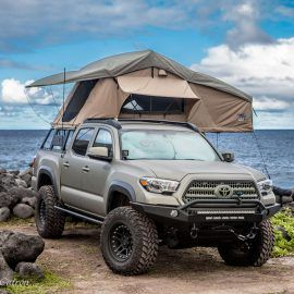 Tuff Stuff Elite Overland Roof Top Tent Annex Room 5 Person Truck Canopy Camping Tacoma Truck Toyota Tacoma
