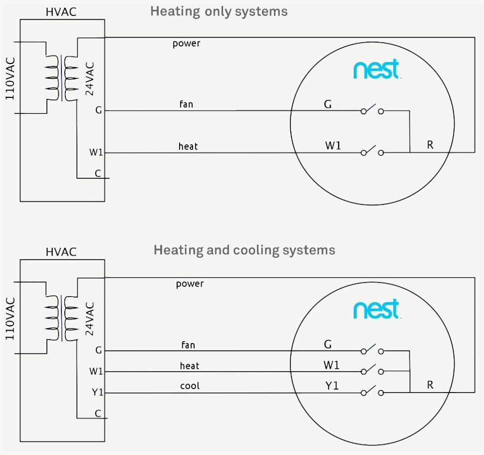 Nest Thermostat Wiring Diagram | Bat A/C System | Nest ... on