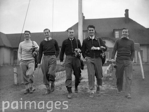 Arsenal's Ronnie Rooke, George Swindin, Don Roper, Les Compton & Reg Lewis Relax on the Golf Course 1949.