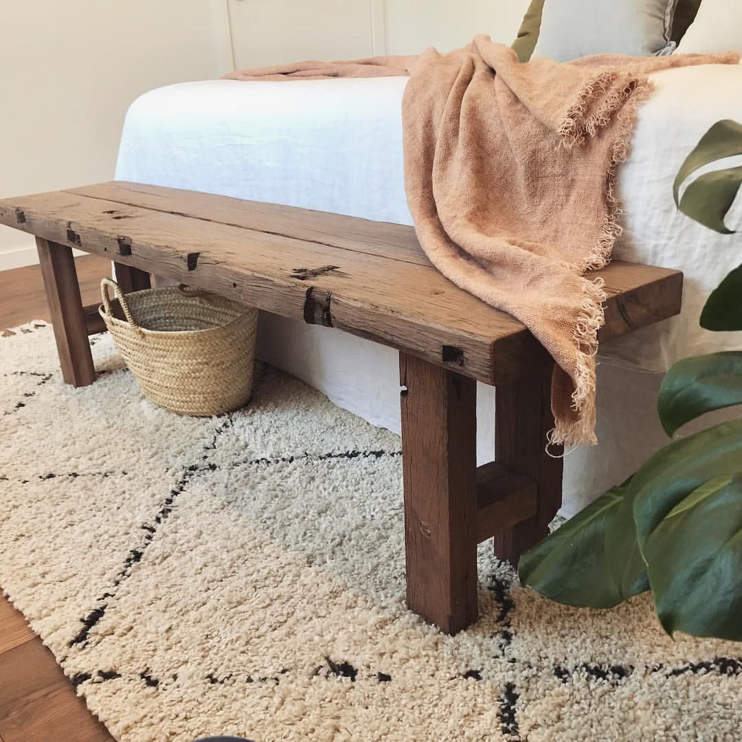 Complete Your Bedroom With A Bench At The End Of Your Bed Fayandcodesigns Wooden Bench Seat Timber Bench Seat Wooden Bench