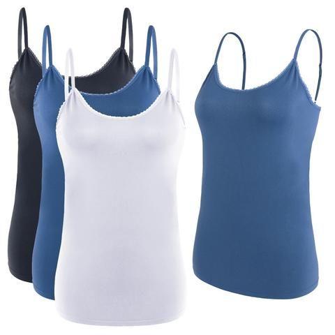 1 Pcs Women s Camisole Built-in Bra Adjustable Spaghetti Strap Women Sexy  Tank Top Sleeveless Cropped Tank Top Camisole 44524b015228