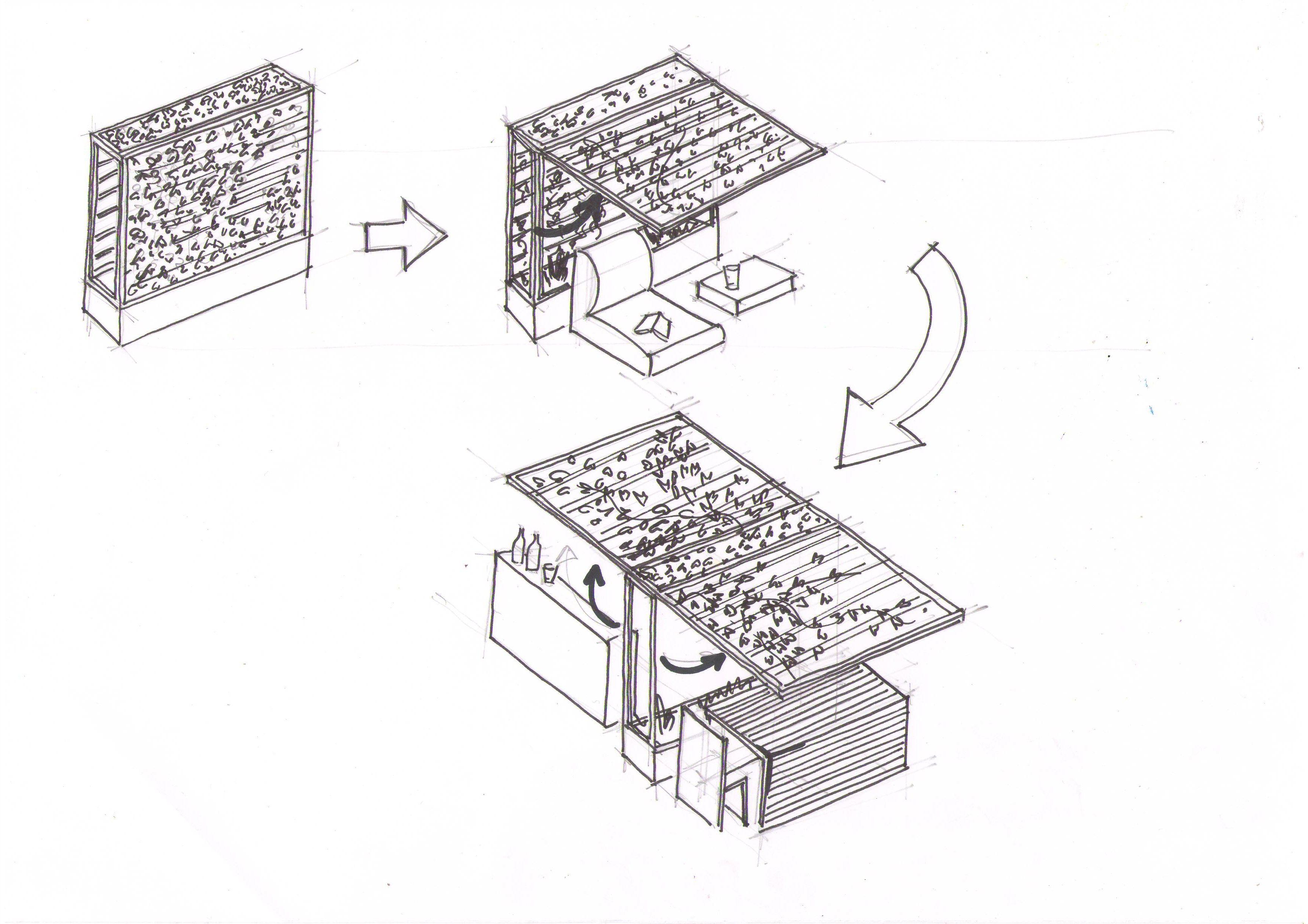 design jardin Paris - croquis de concept  http://www.unpeu-beaucoup.com/