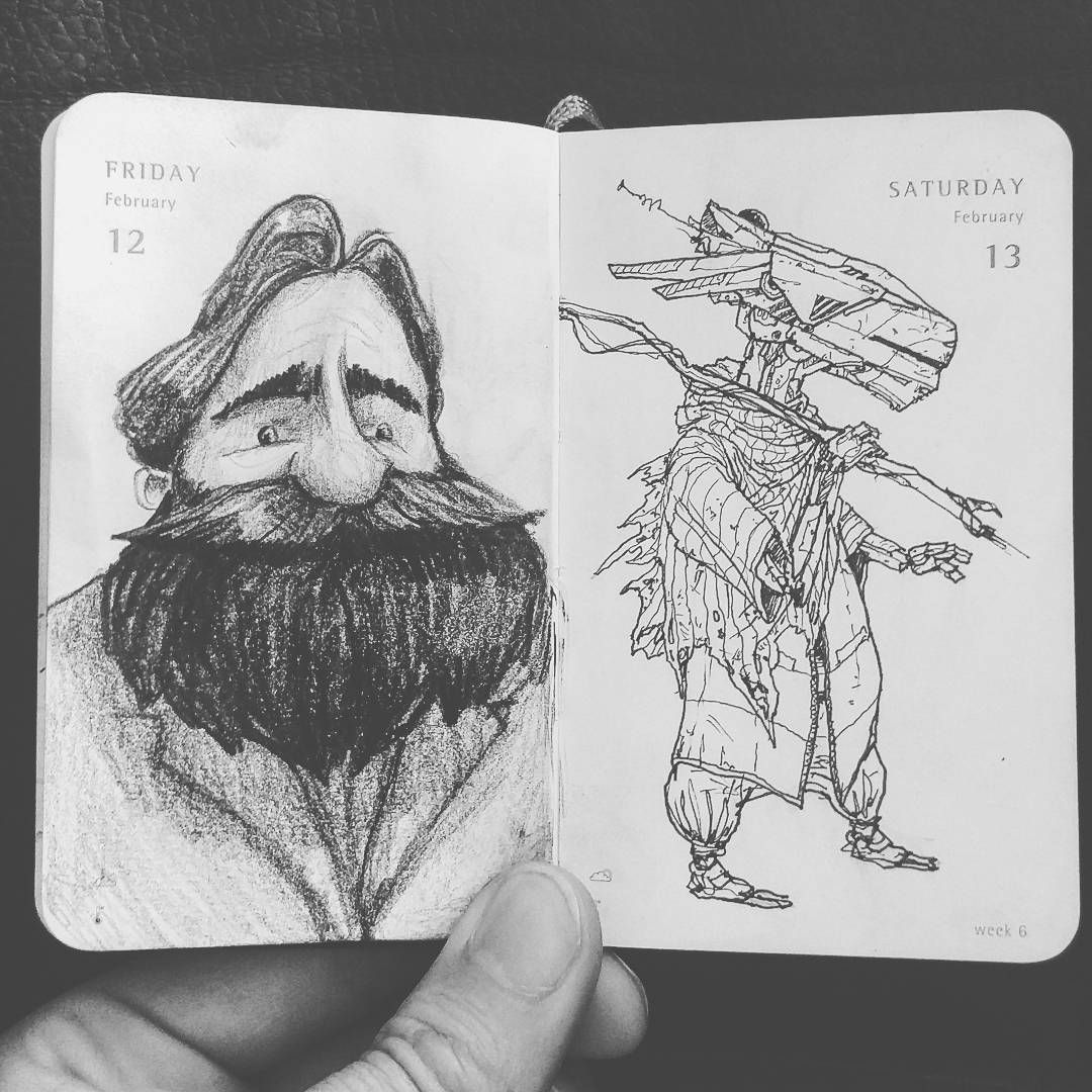Friday's and yesterday's #TinyDailySketch