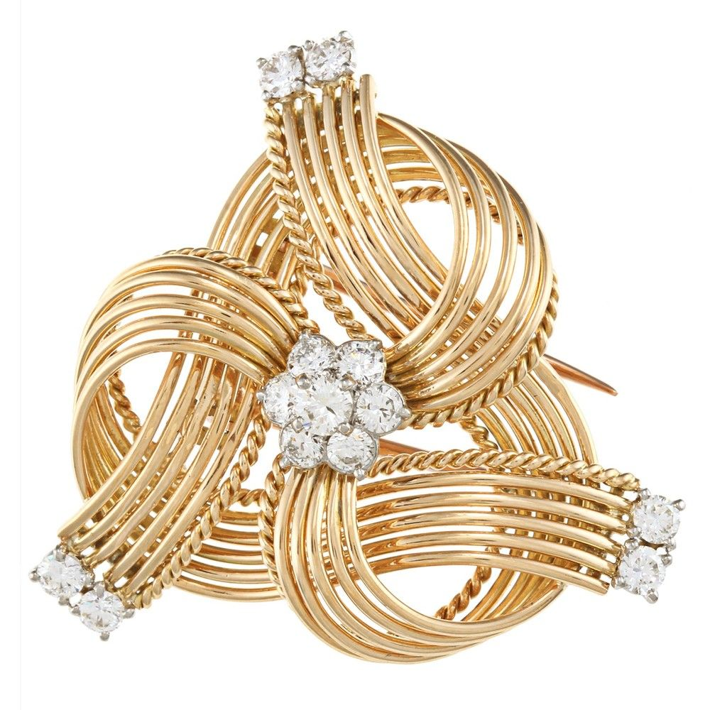 Cartier 18k Yellow Gold Estate Brooch