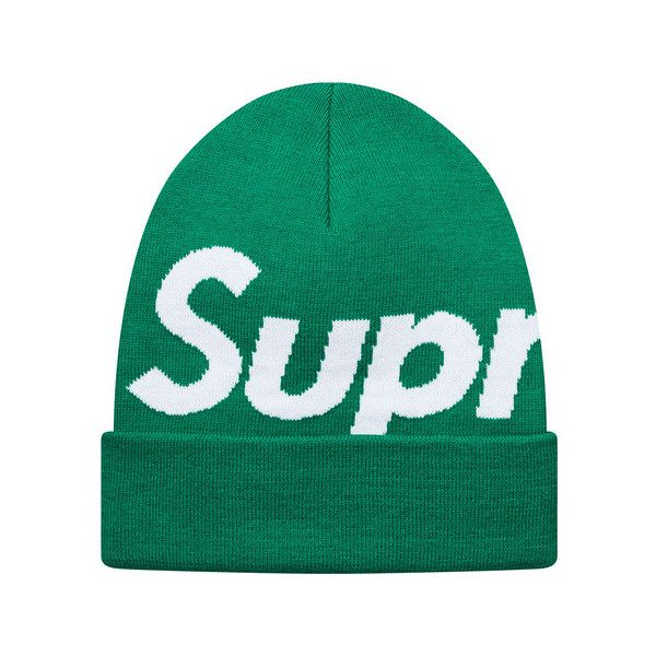 Supreme Big Logo Beanie (265 DKK) ❤ liked on Polyvore featuring  accessories 09a6674ebd1