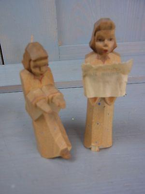 We  Erzgebirge Schumann Wagner Angel Wood Carved Christmas Figure View