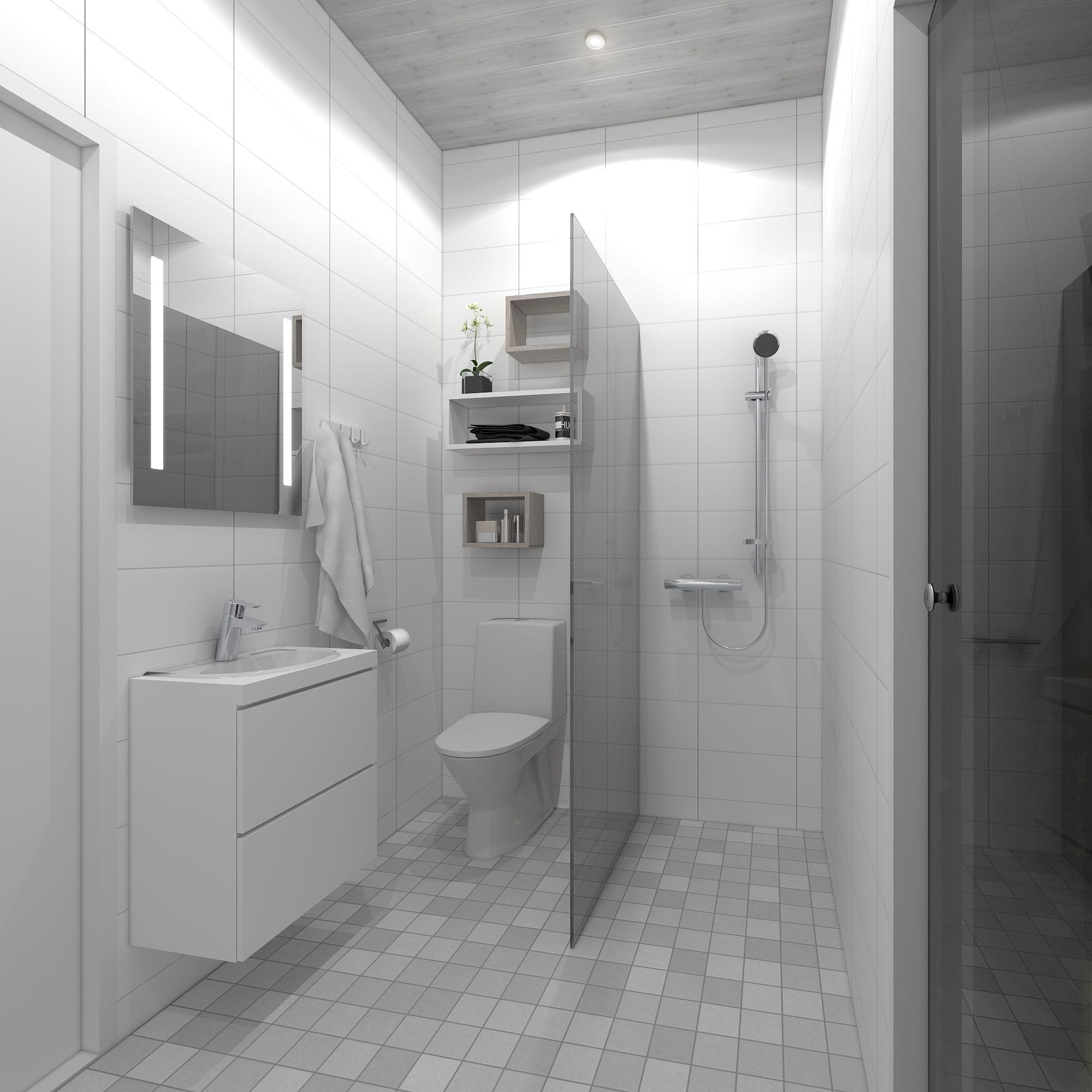 Kuvahaun tulos haulle valkoinen kylpyhuone  Small minimal