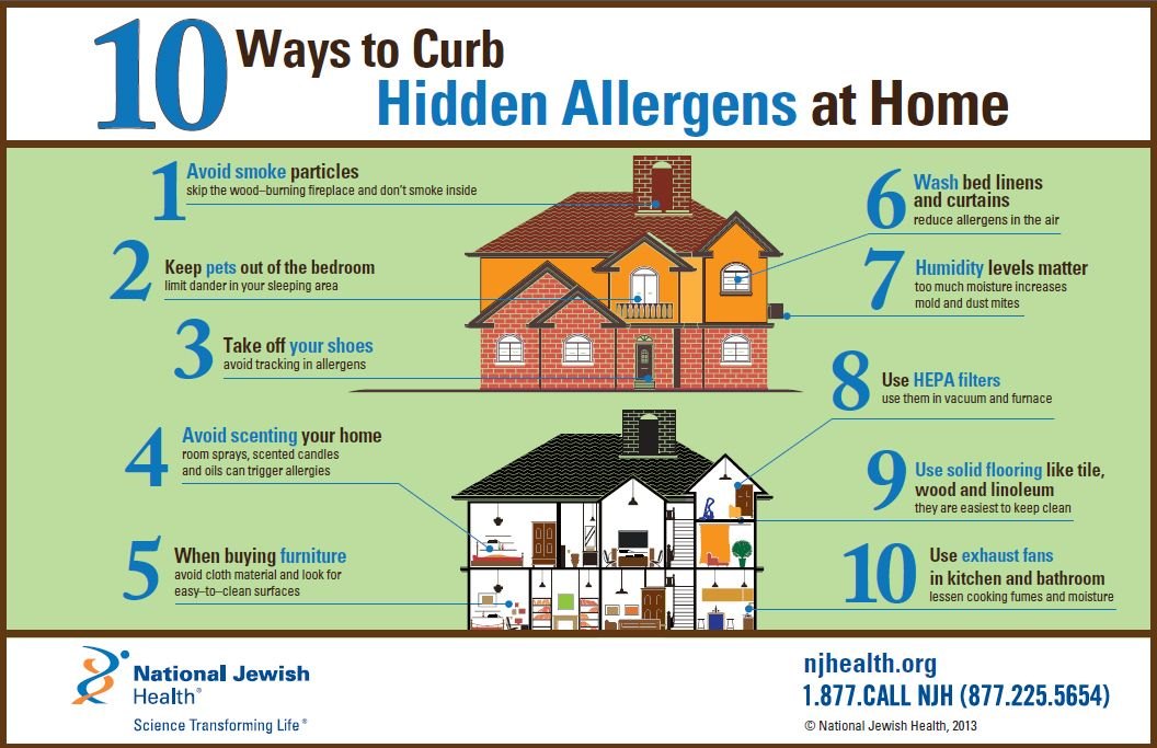 10 Ways to Curb Hidden Allergens in Your Home Allergies