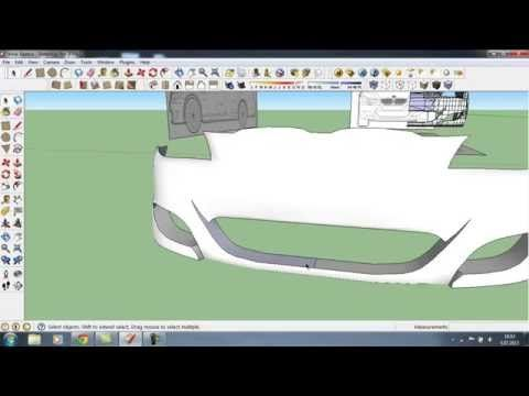 Google sketchup tutorial how to do a car in 3d part 4 22 google sketchup tutorial how to do a car in 3d part 4 2 malvernweather Choice Image
