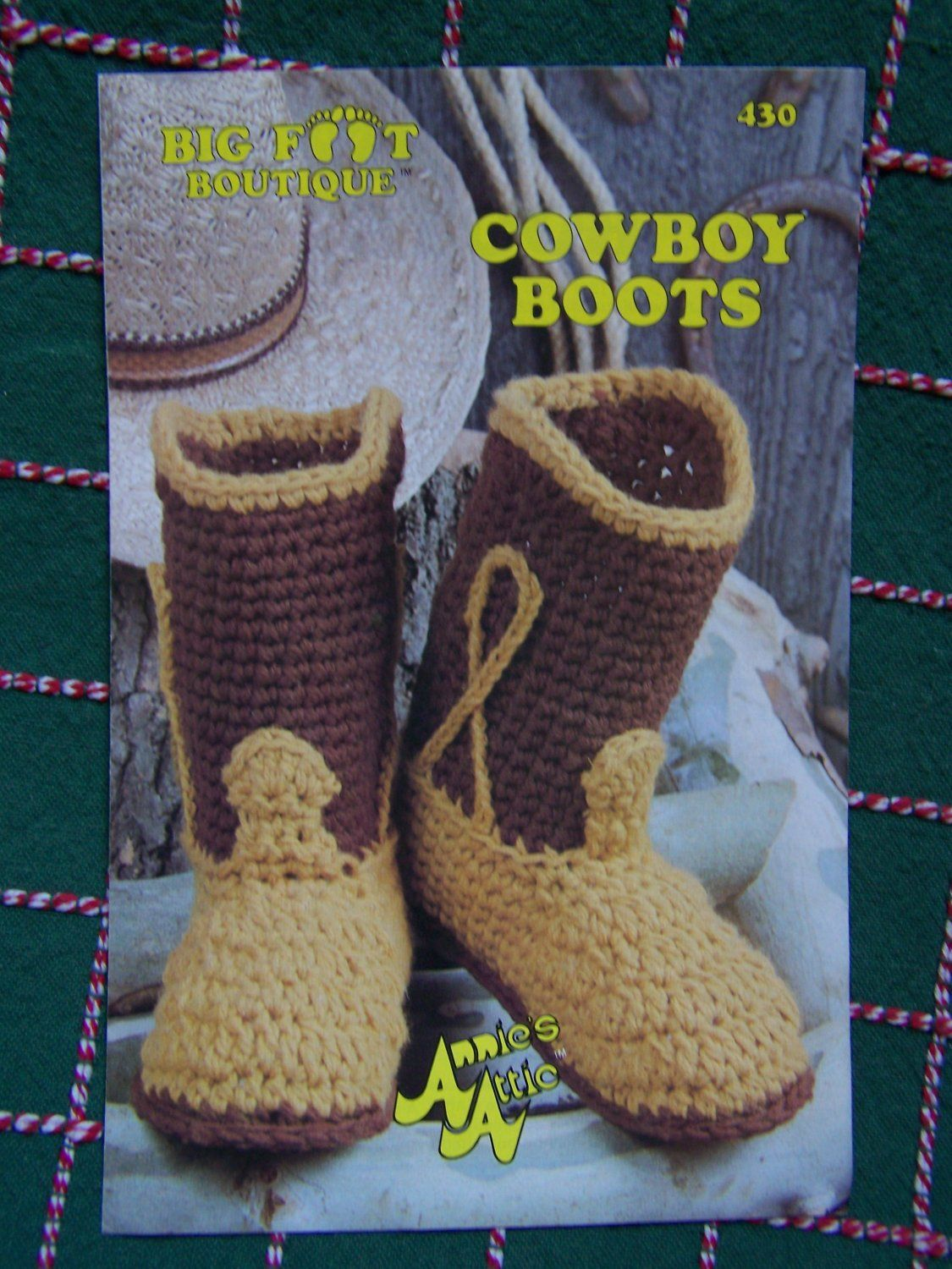 S&H Free USA Vintage Cowboy Boots Annies Attic Crochet Pattern 430 ...