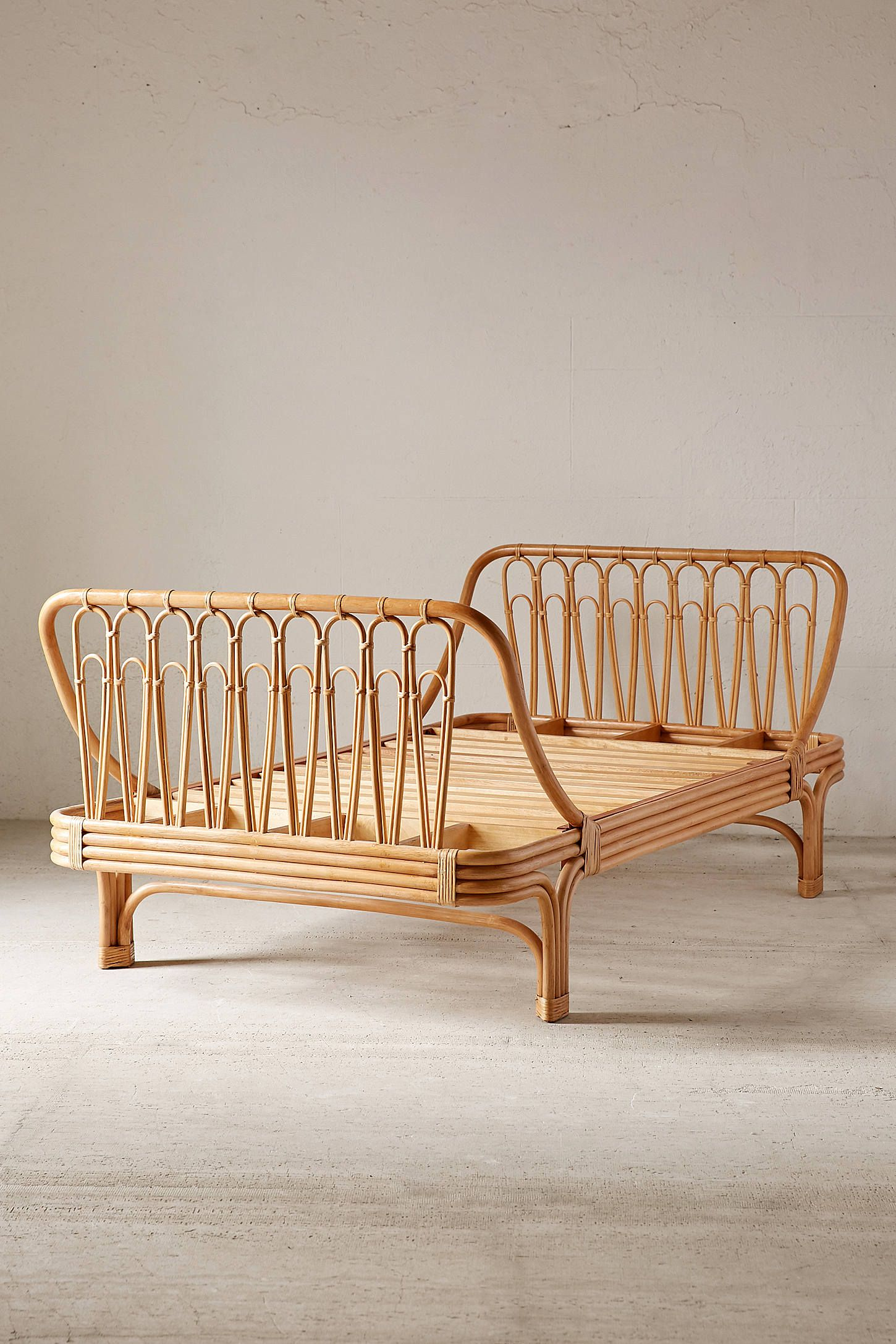 Canoga Rattan Bed in 2020 Rattan bed frame, Bamboo