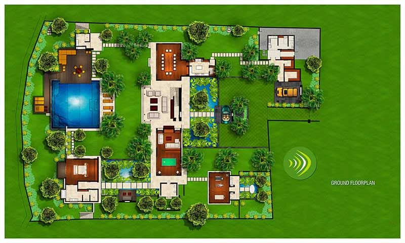 Bali 4 Bedroom Villa Plans Balinese Pavilion Style House Plans  Plan De Maison  Pinterest .