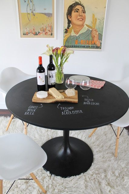 High Quality Lovely Small Dining Tables Sets Inspiration: Clever Black Chalk Board Used  As Main Material Of