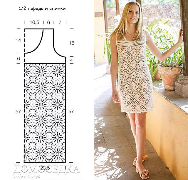 crochet dress pattern | szydełko | Pinterest | Tejido, Vestiditos y ...