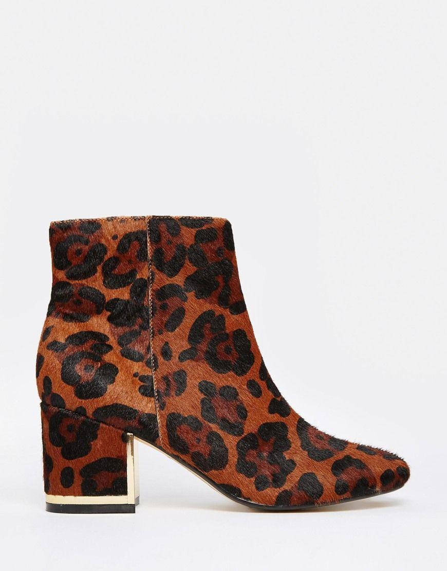 Buy Women Shoes / River Island 60s Leopard Print Block Heel Boots