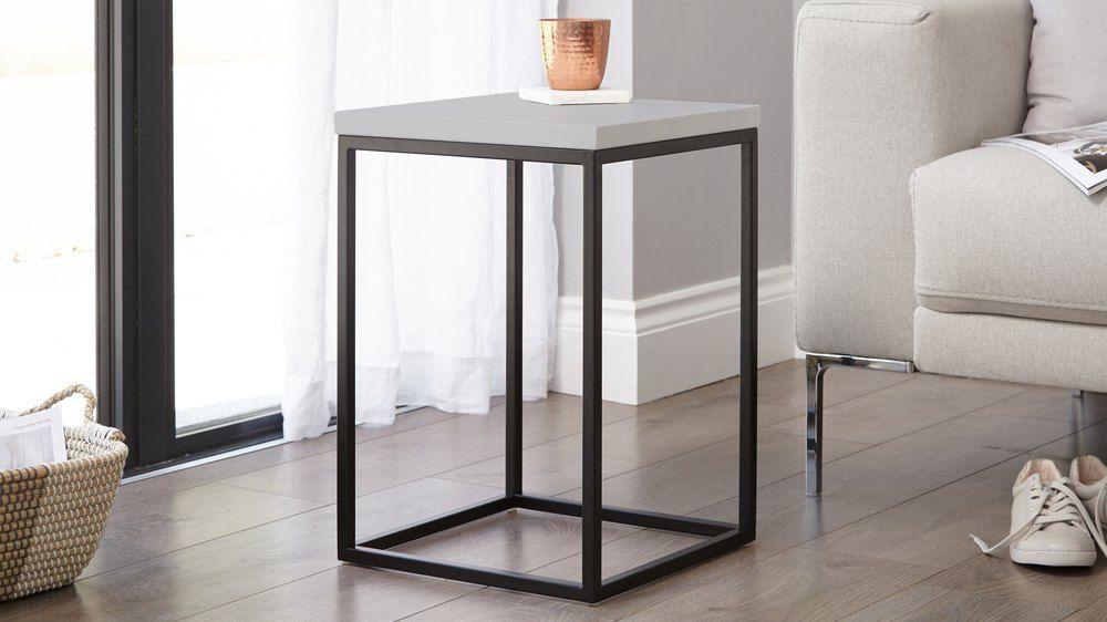 Danetti Matt Black And Grey Side Table