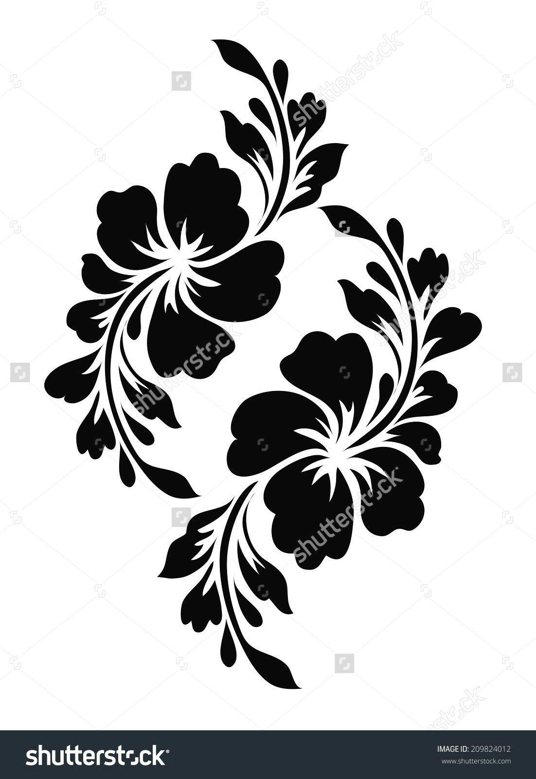 stupf template flower template stencil stencil hibiscus flowers Wall stencil Decor template painter template