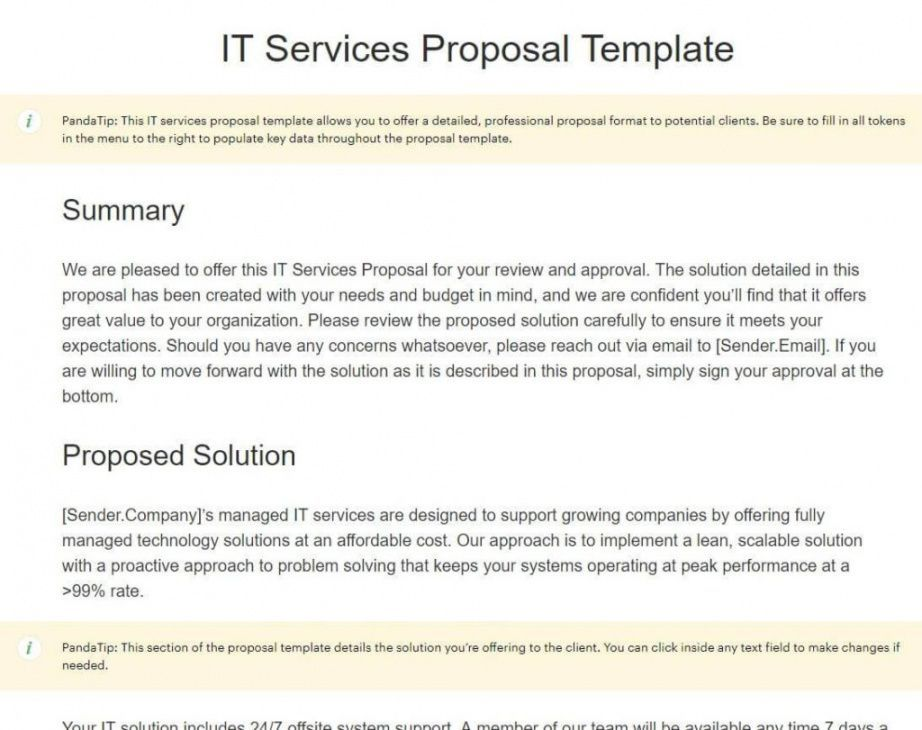 Managed Services Proposal Template Proposal Templates Writing A Business Proposal Business Proposal