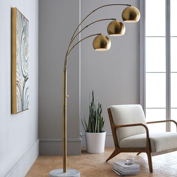 Span 3 Head Metal Globe Floor Lamp, Floor Lamps For Living Room Target