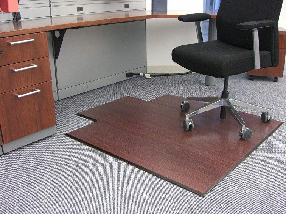 Bamboo Desk Chair Mat organization Ideas for Small Desk