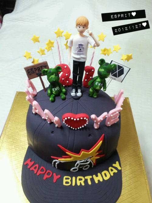 chanyeols birthday cake EXO Pinterest Birthday cakes