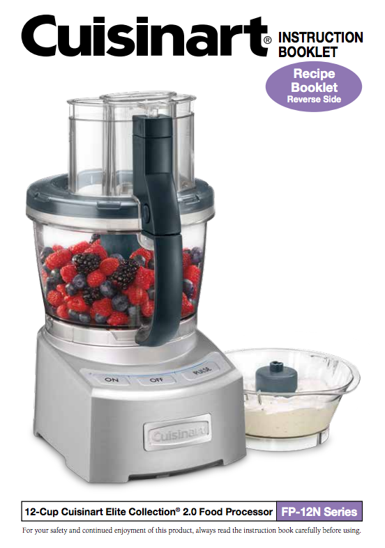 Elite collection 20 12 cup food processor fp 12n product manual elite collection 20 12 cup food processor fp 12n product manual forumfinder Image collections