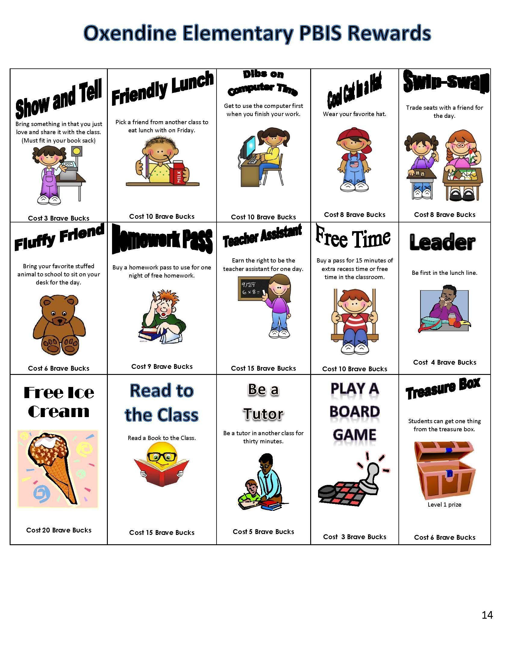 Pbis Classroom Matrix