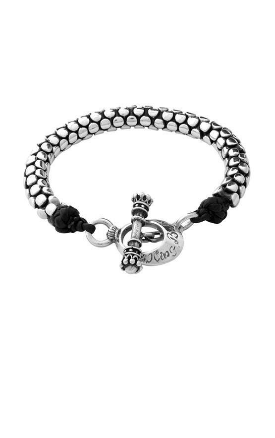 9304162a7 Leather and Silver Snake Link Bracelet   Bling   Bracelets, Mens ...