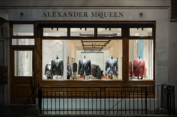 Exterior Of The Alexander McQueen Mens Flagship Store On Savile Row In London