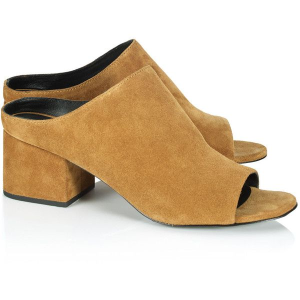 3.1 Phillip Lim Suede Peep-Toe Mules good selling cheap price low price online with credit card free shipping free shipping real largest supplier 2XgljISu72