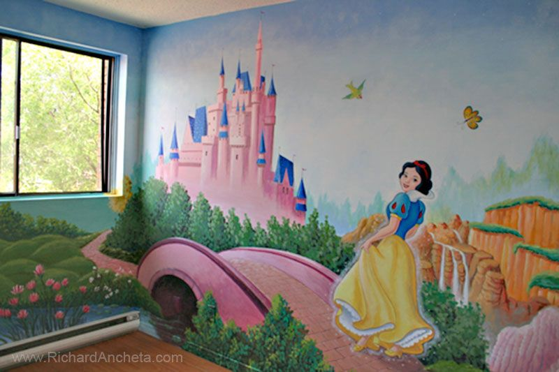 Children S Mural Painting Disney Princesses Montreal