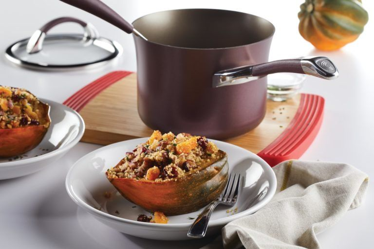 Stuffed Roasted Acorn Squash With Apricot Couscous Recipe