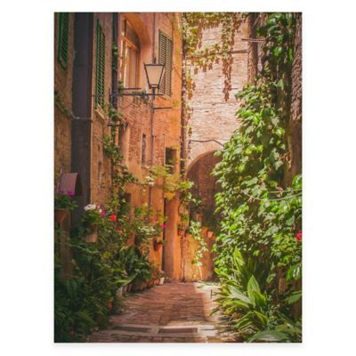 Outdoor Canvas Wall Art.Hidden Alley All Weather Outdoor Canvas Art Multi Products