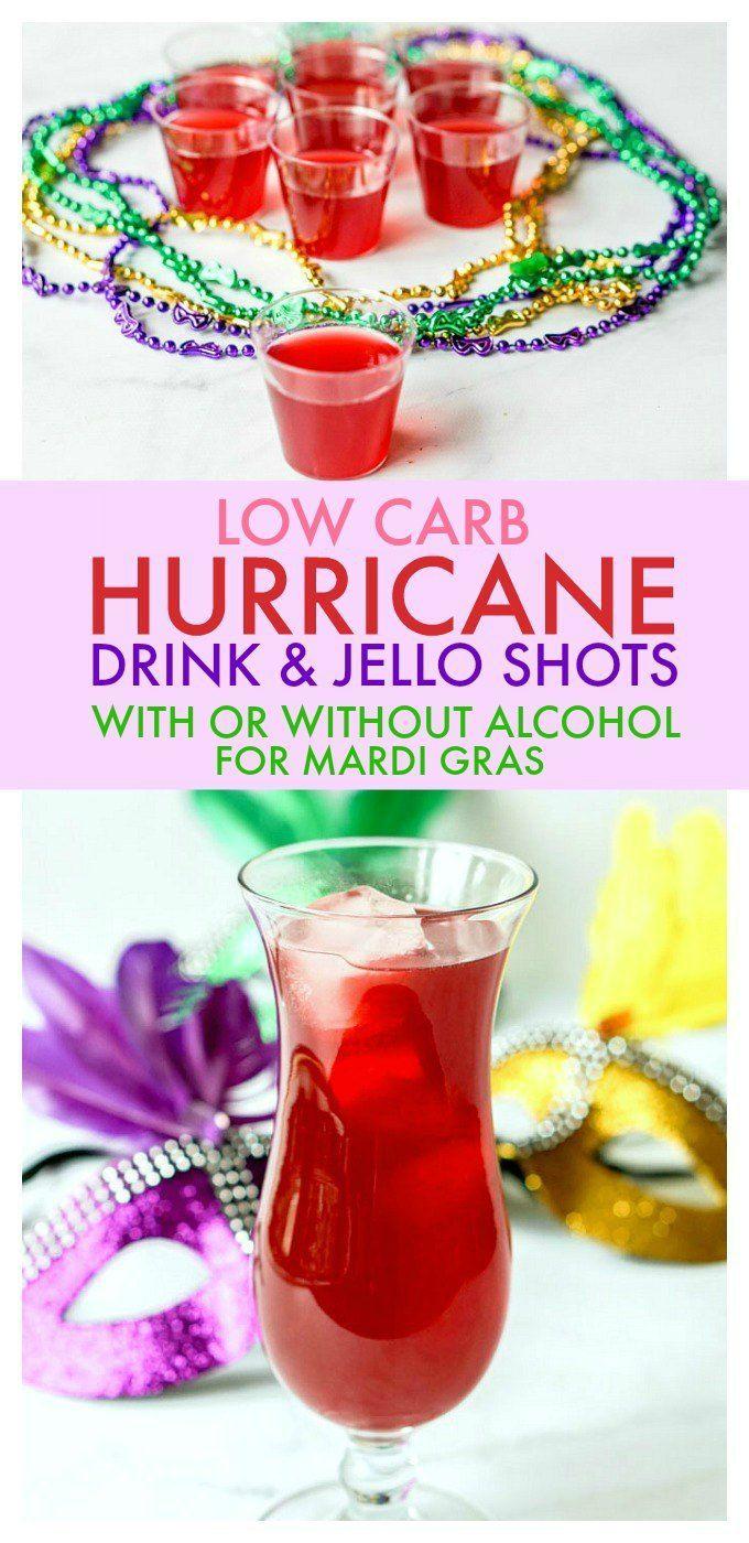 Low Carb Hurricane Gelatin Shots for Mardi Gras | Rezept ...