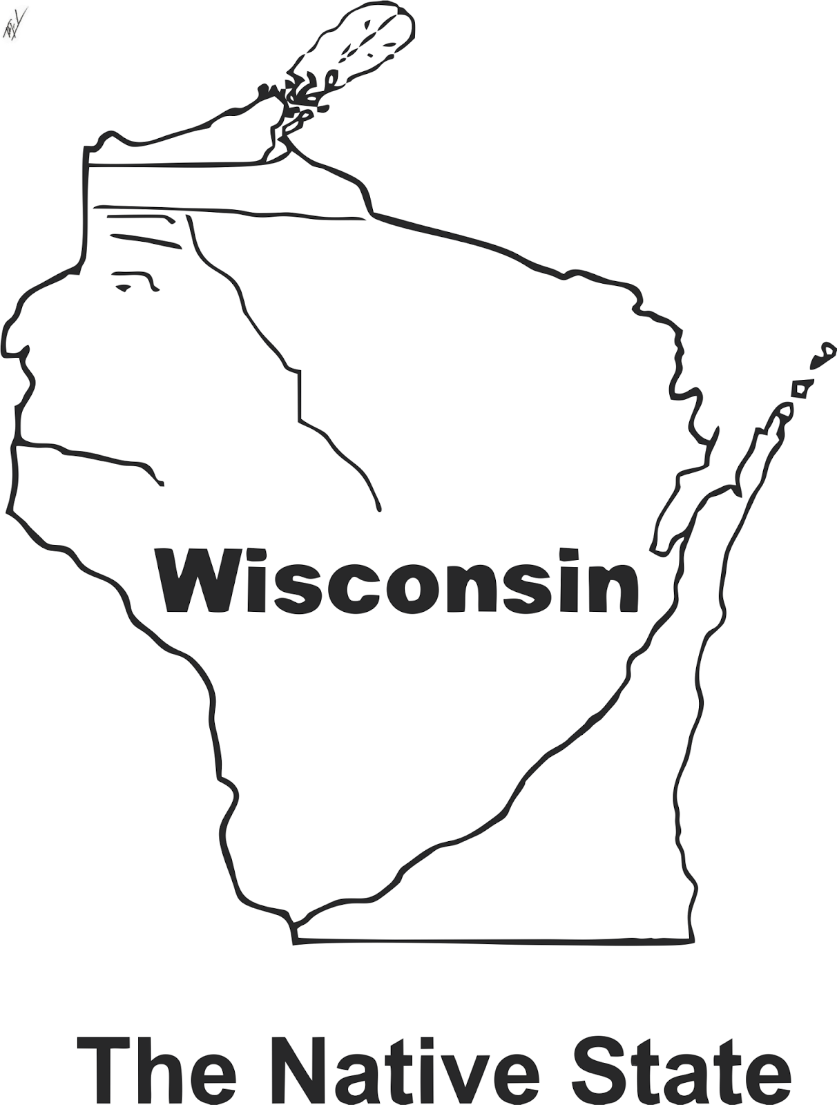A Funny Map Of Wisconsin Funny Maps A Funny Map