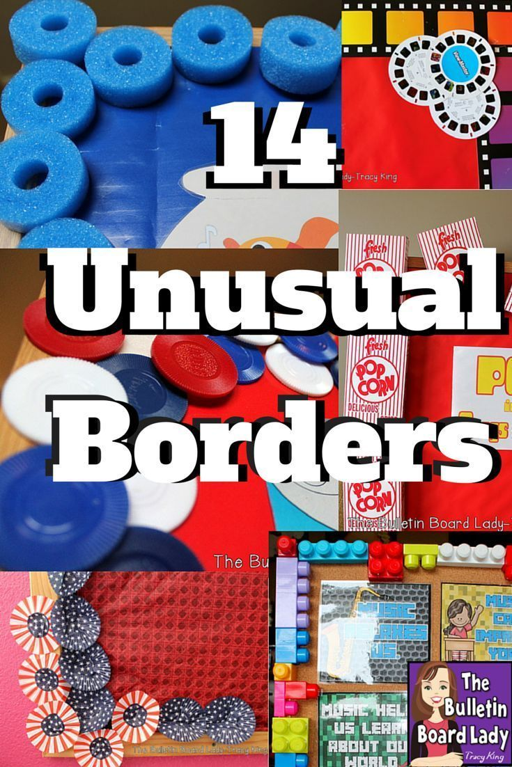 unusual bulletin board boarders pool noodles cupcake papers legos these and incredibly fabulous border ideas are easy to do also borders school rh pinterest