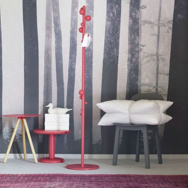 'Bubble' Coat rack characterized by a distinctive design and playful as opposed to a particularly low footprint.