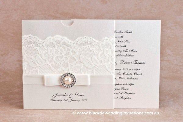 Diamonds And Pearls Invitation Http Blacktieweddinginvitations Au Galleries Premium Wedding Invitations