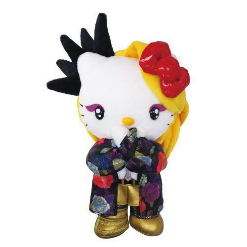 Yoshikitty Plush M 2015 X pose Stuffed Animal Doll Kitty Yoshiki JAPAN