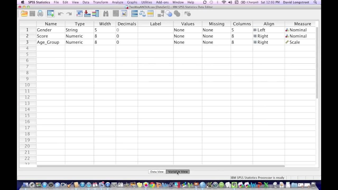 How To Calculate A Two Way Anova Using Spss Anova Data Analysis