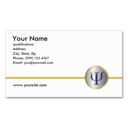 Psychology business card double sided psychology business cards psychology business card double sided reheart Image collections