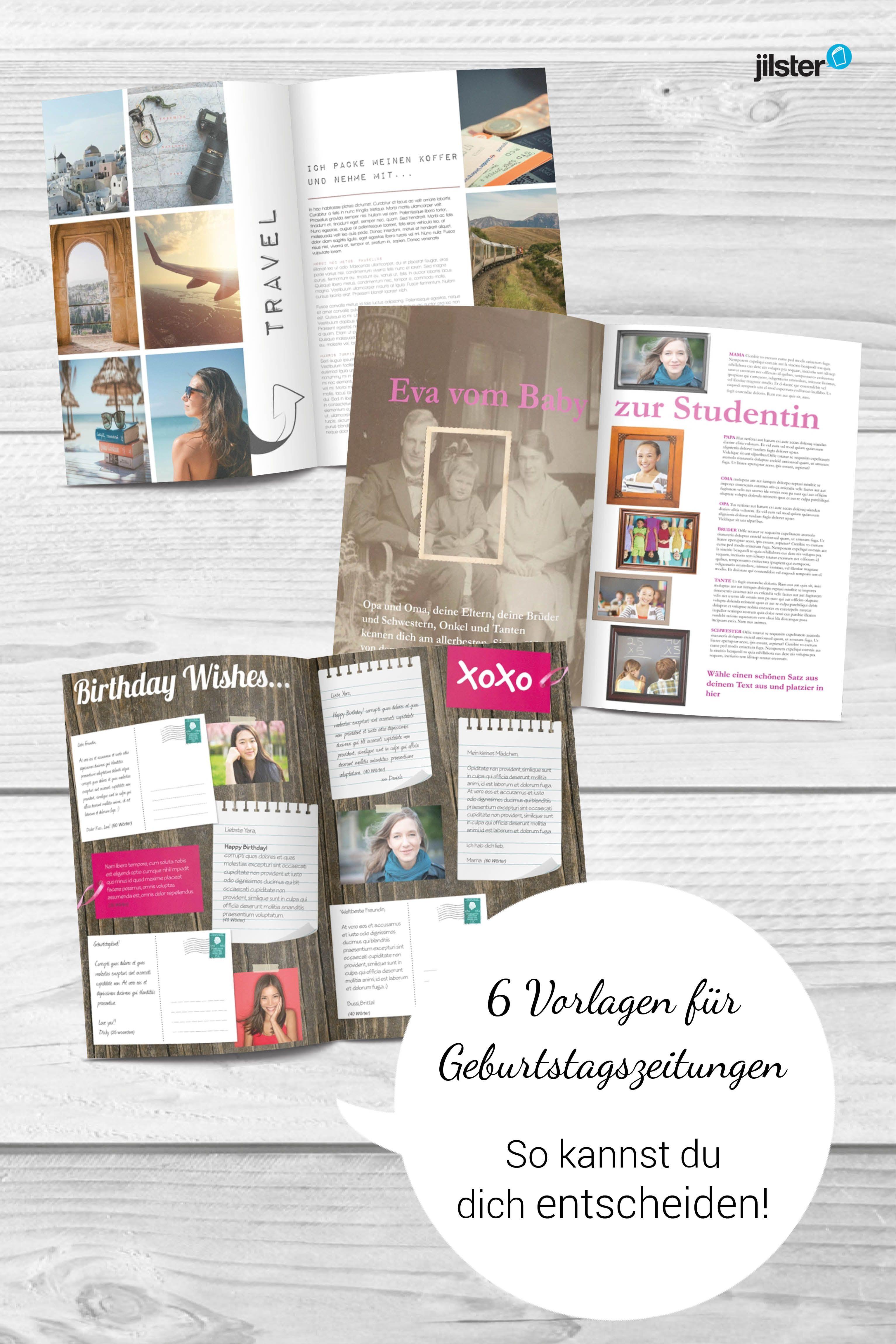 Tolle Vorlagen für #Geburtstagszeitungen auf #jilster.de - Wir ...