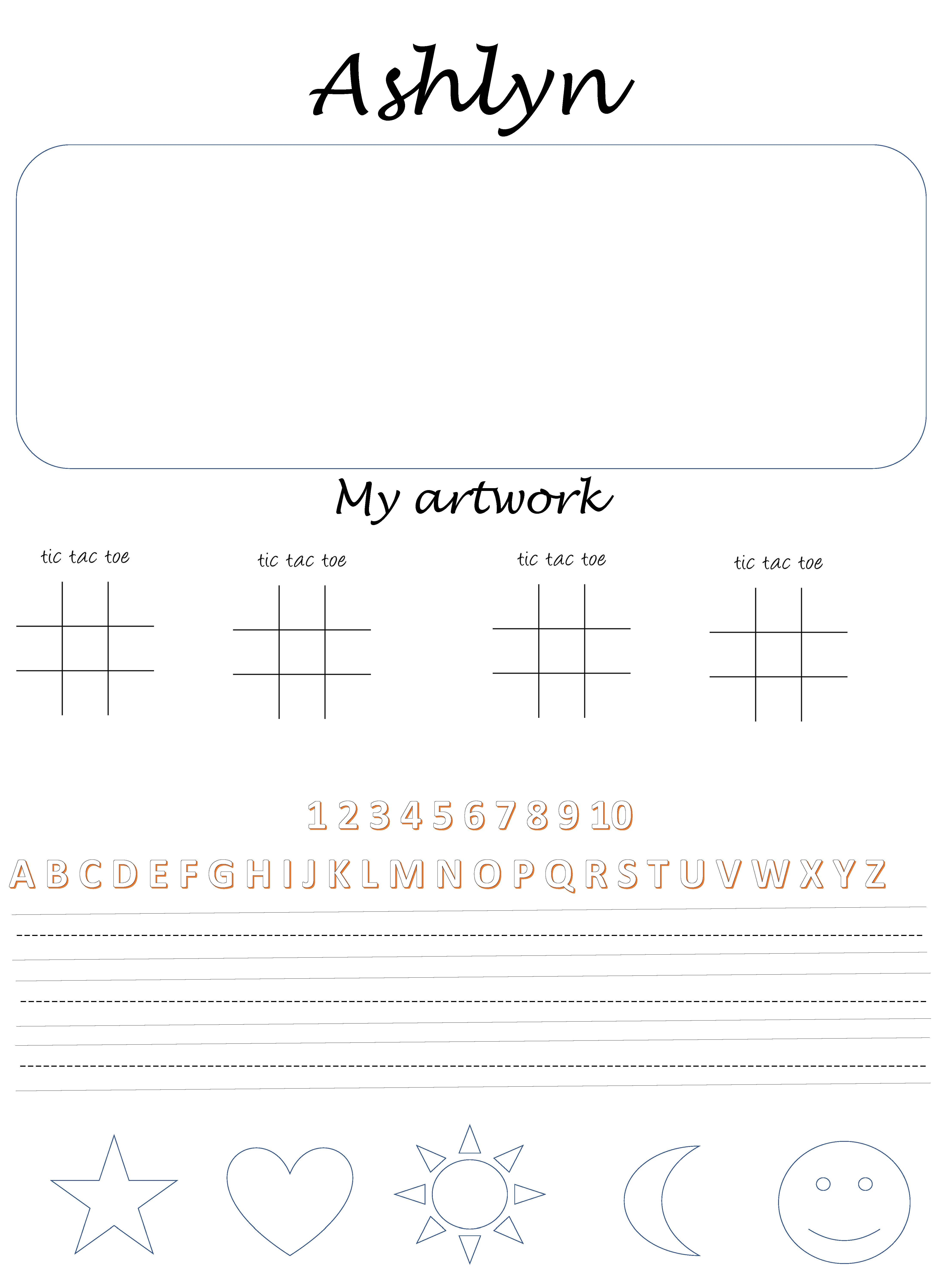 Custom Printed Easels Pads With Your Child S Name Size