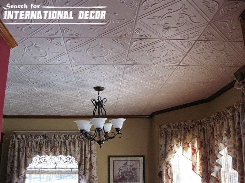 Decorative ceiling tiles with original designs and