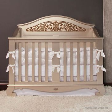 Chelsea Lifetime Crib Antique Silver Converts Into A Bed Too