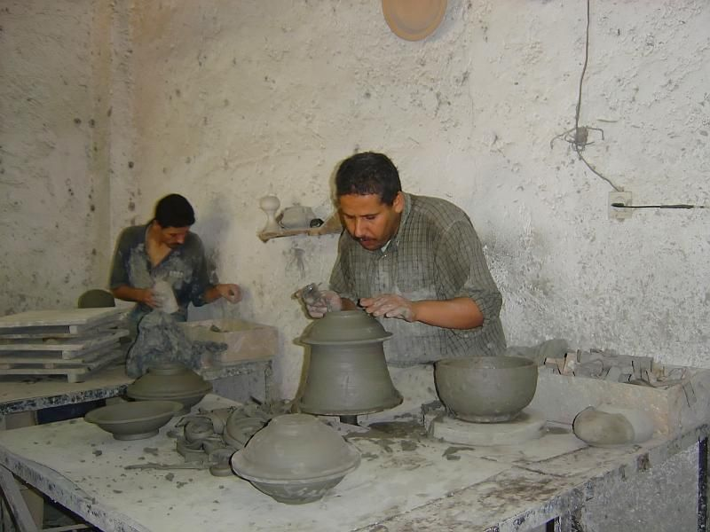 Pottery in Fes, Morocco