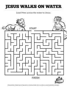 Jesus Walks On Water Activity
