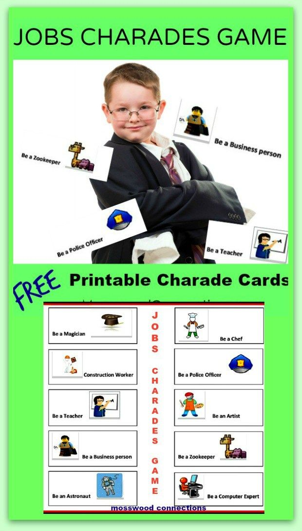 What Job Do You Want Charades Mosswood Connections Business For Kids Educational Activities For Kids Printable Activities For Kids