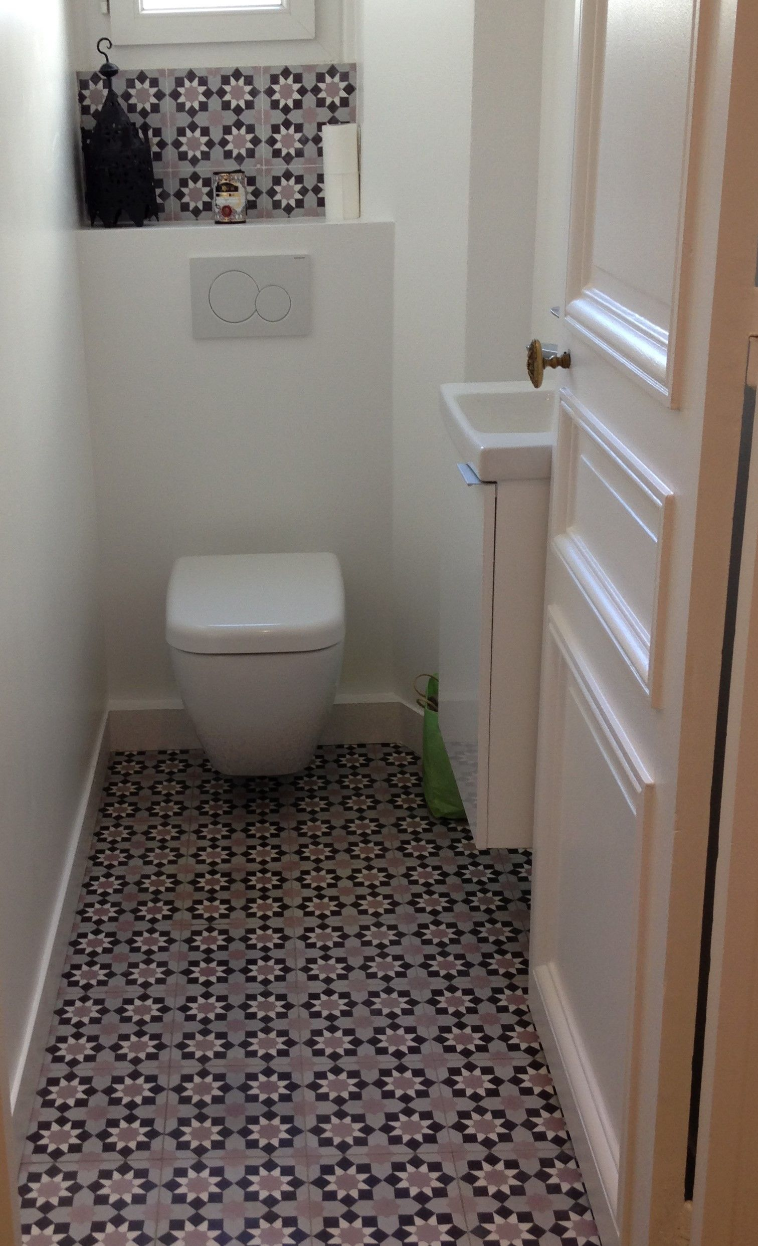 carreau de ciment carrelage wc